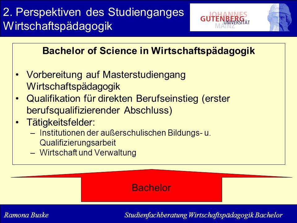 2. Perspektiven des Studienganges Wirtschaftspädagogik