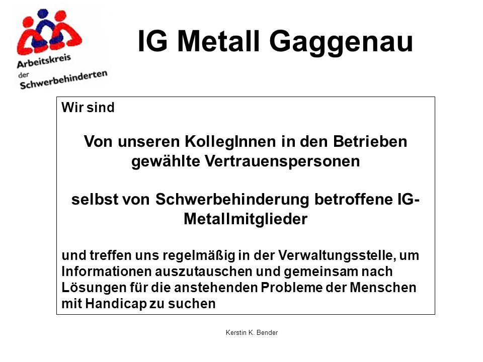 IG Metall Gaggenau Wir sind. Von unseren KollegInnen in den Betrieben gewählte Vertrauenspersonen.