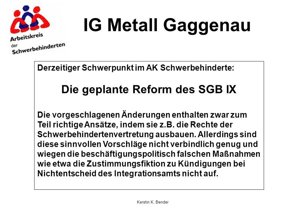 Die geplante Reform des SGB IX