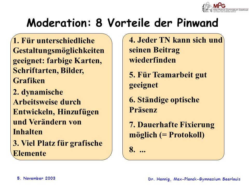 Moderation: 8 Vorteile der Pinwand