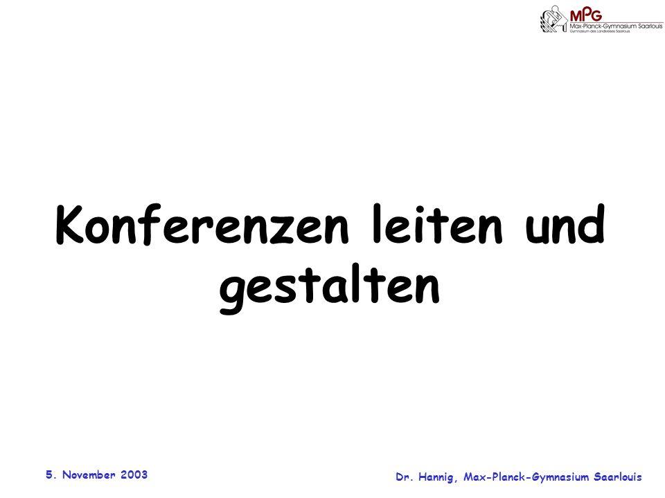Konferenzen leiten und gestalten