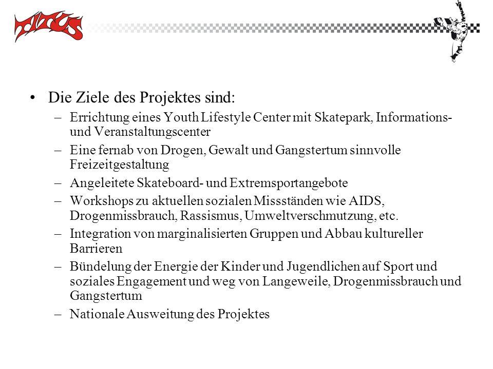 Die Ziele des Projektes sind: