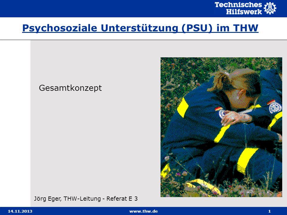 Psychosoziale Unterstützung (PSU) im THW