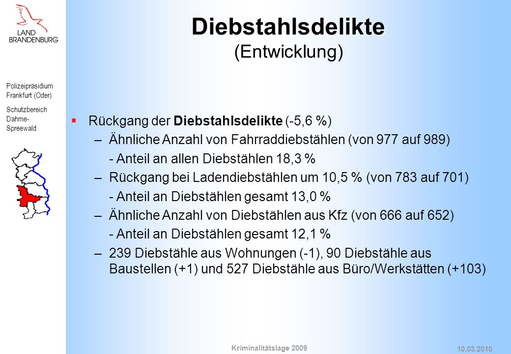 Diebstahlsdelikte (Entwicklung)