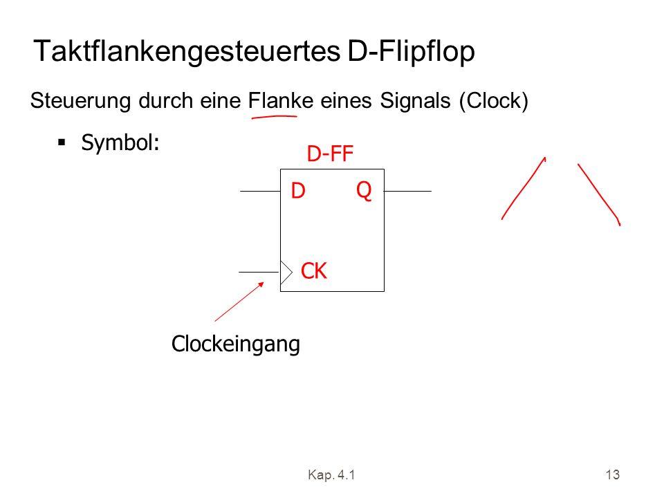 Taktflankengesteuertes D-Flipflop