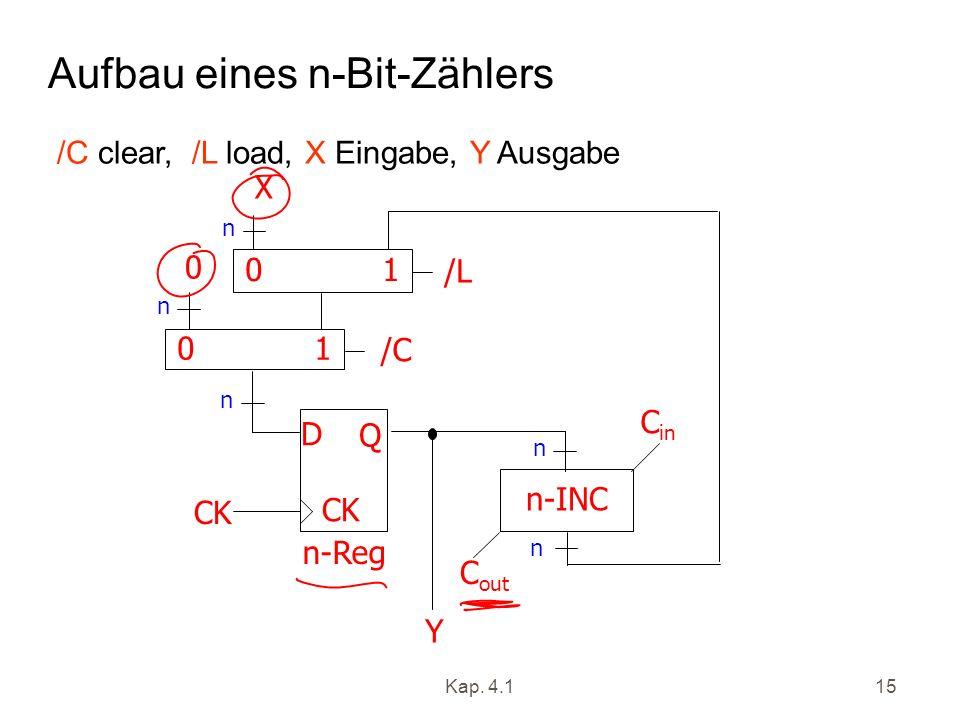 Aufbau eines n-Bit-Zählers