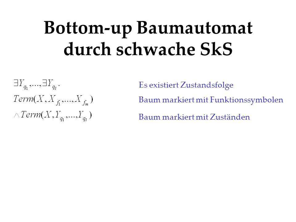 Bottom-up Baumautomat durch schwache SkS