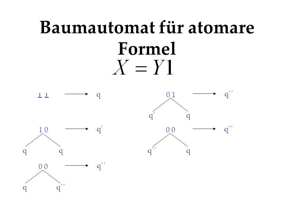 Baumautomat für atomare Formel