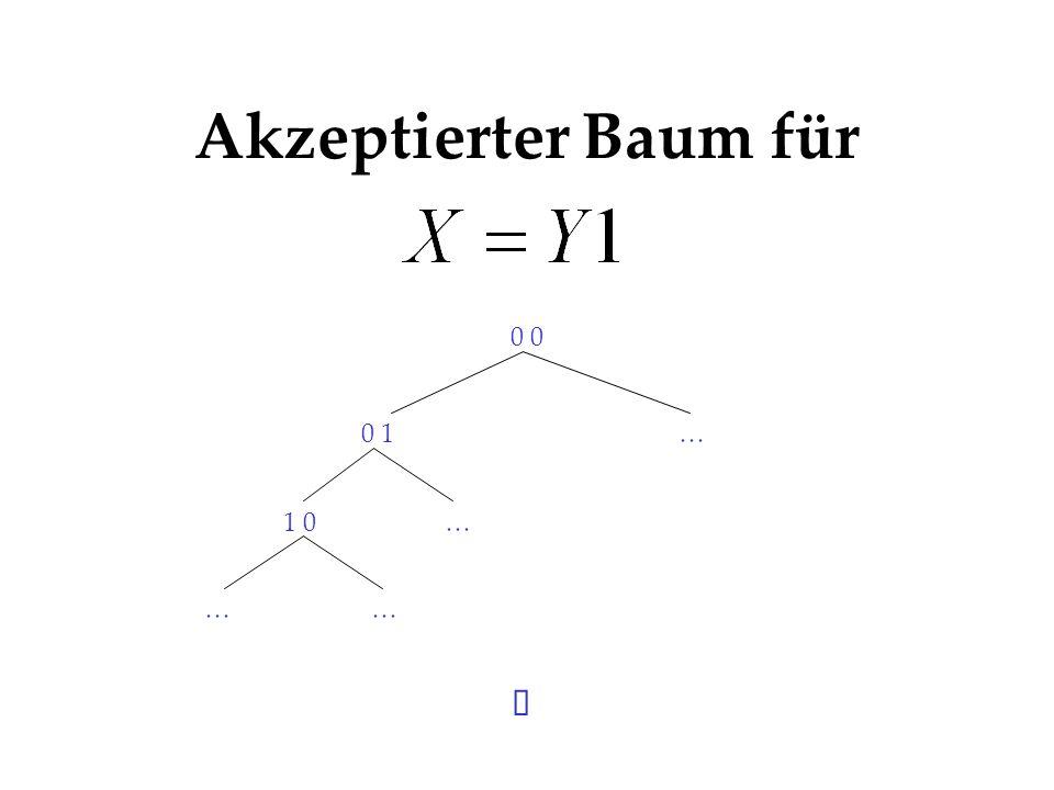 Akzeptierter Baum für ü 0 0 0 1 … 1 0 Singeltons, keine 1 bei ...