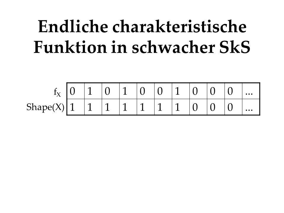 Endliche charakteristische Funktion in schwacher SkS