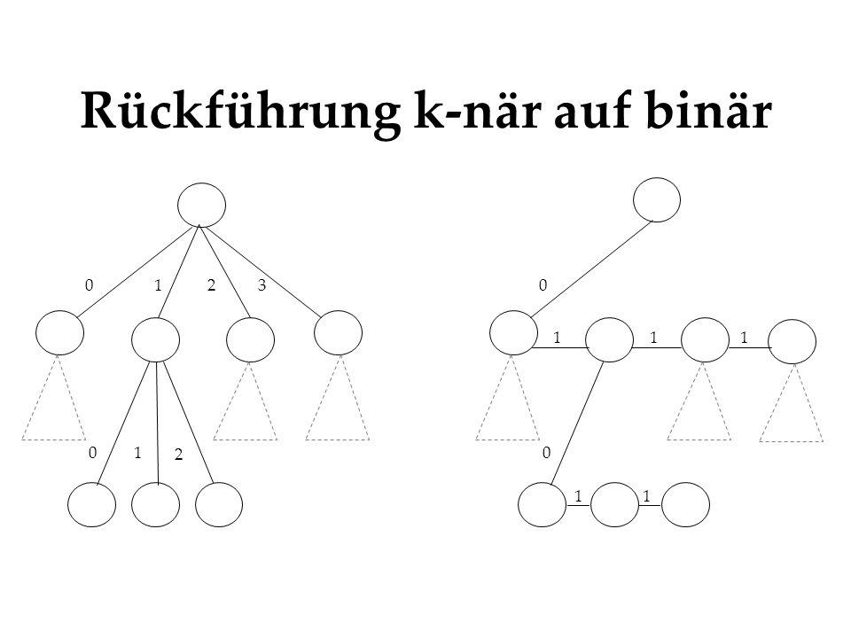 Rückführung k-när auf binär