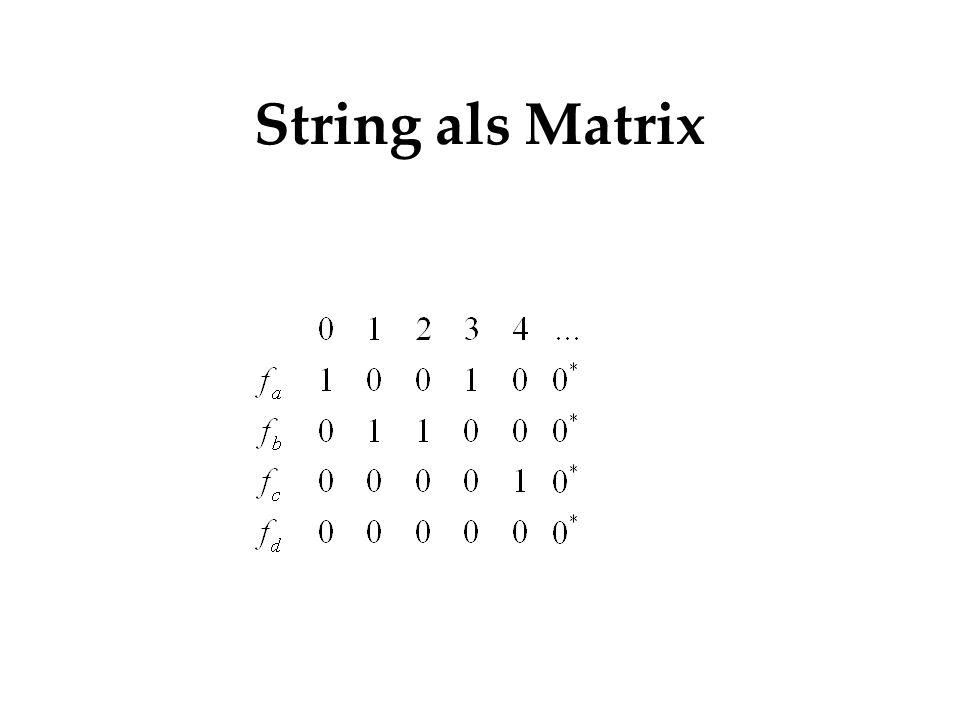 String als Matrix Hierbei disjunkt