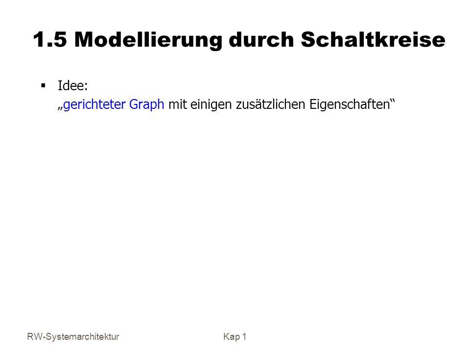 1.5 Modellierung durch Schaltkreise