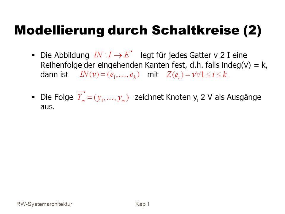 Modellierung durch Schaltkreise (2)