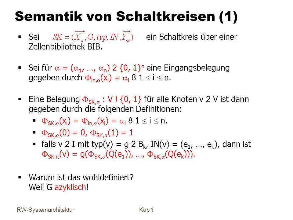 Semantik von Schaltkreisen (1)