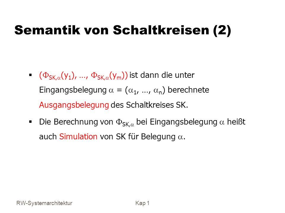 Semantik von Schaltkreisen (2)