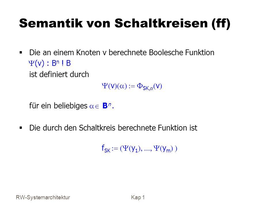 Semantik von Schaltkreisen (ff)