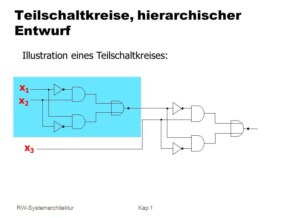 Teilschaltkreise, hierarchischer Entwurf