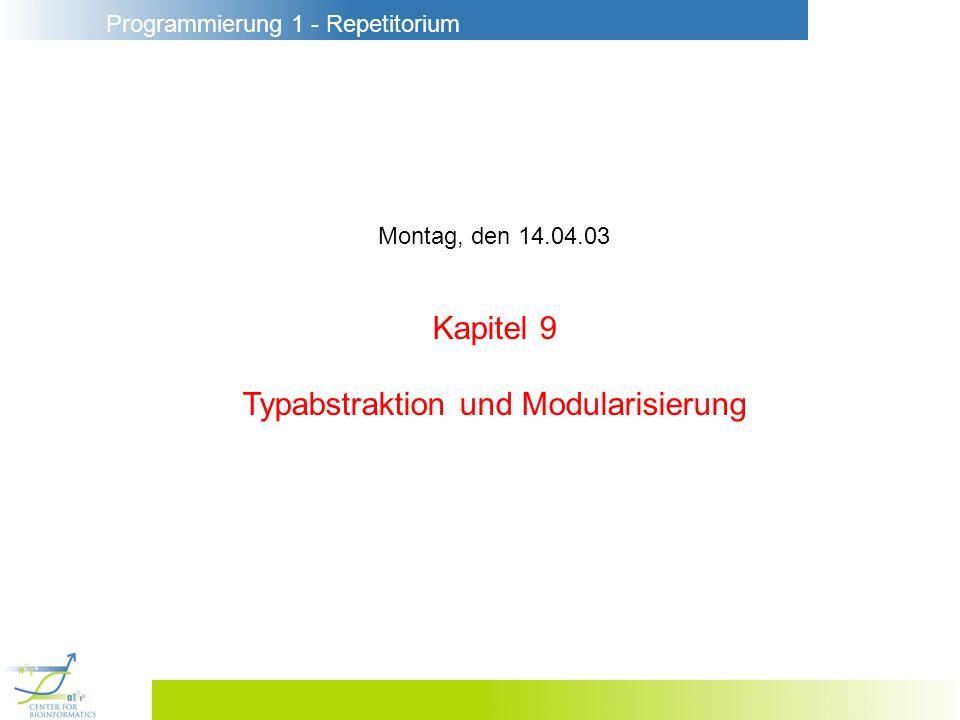 Typabstraktion und Modularisierung