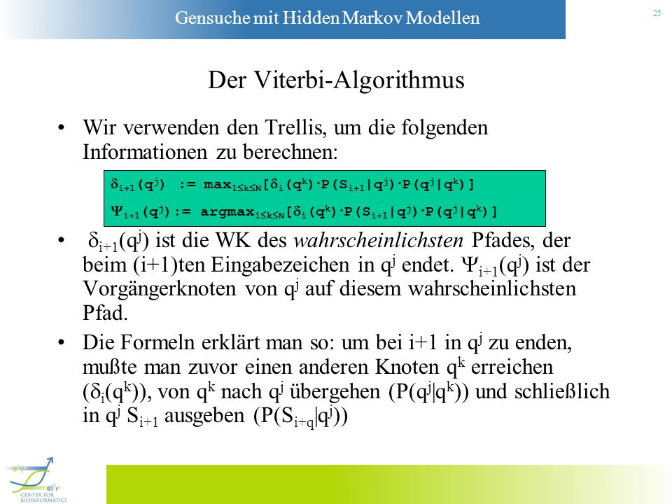 Der Viterbi-Algorithmus