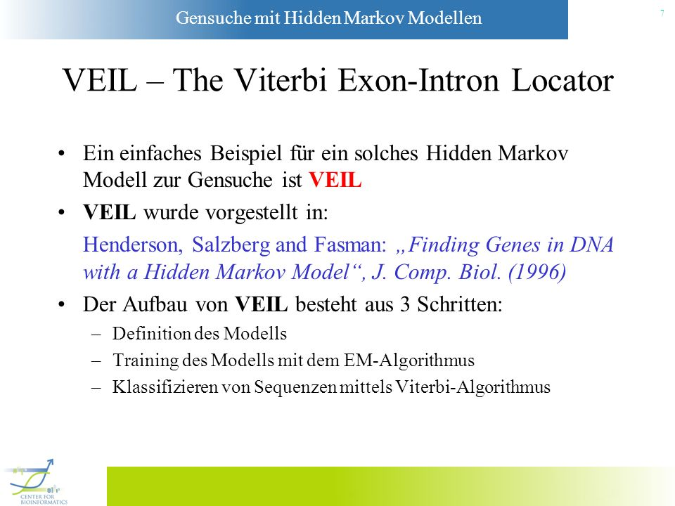 VEIL – The Viterbi Exon-Intron Locator