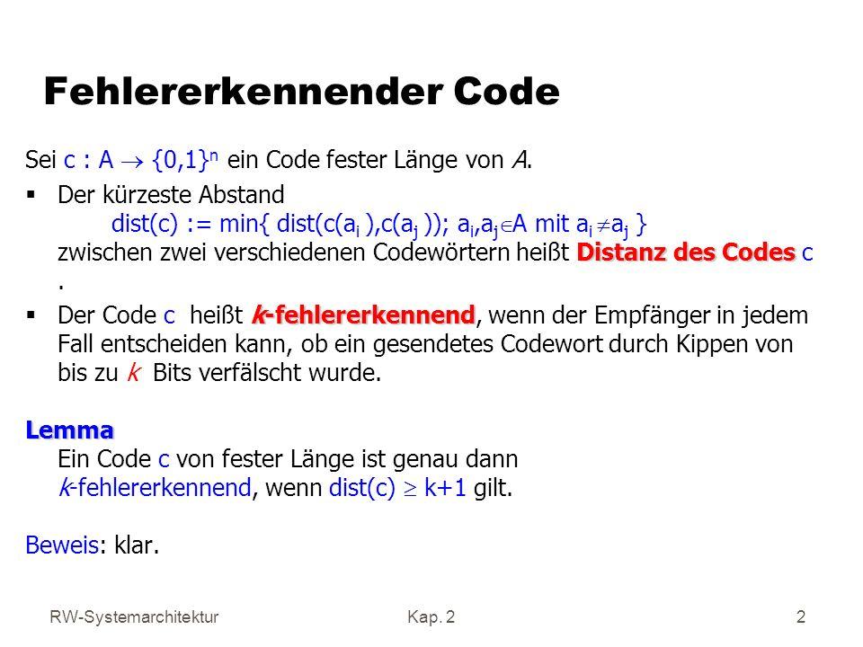 Fehlererkennender Code