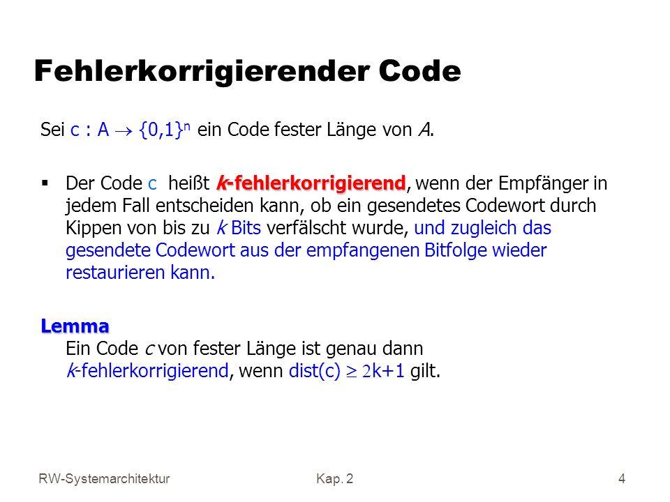 Fehlerkorrigierender Code