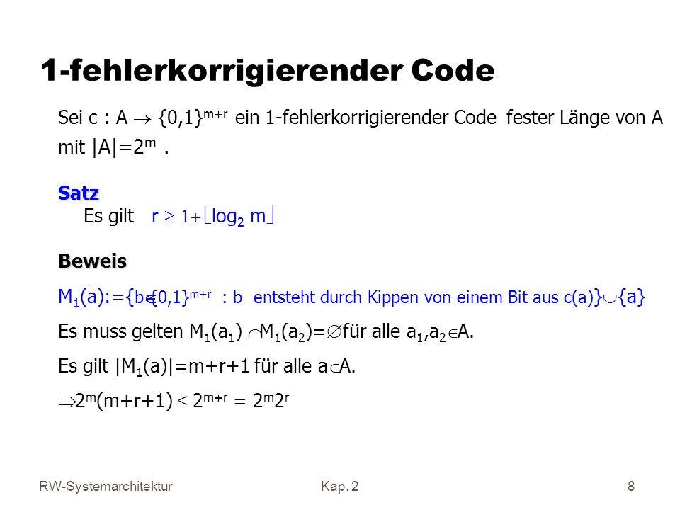 1-fehlerkorrigierender Code