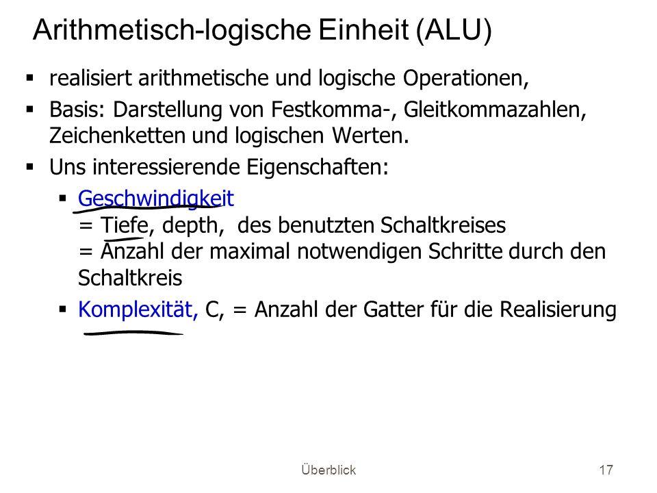Arithmetisch-logische Einheit (ALU)
