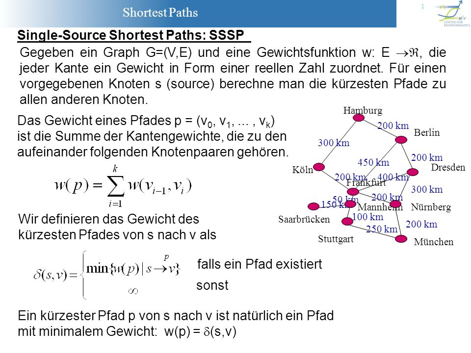 Single-Source Shortest Paths: SSSP