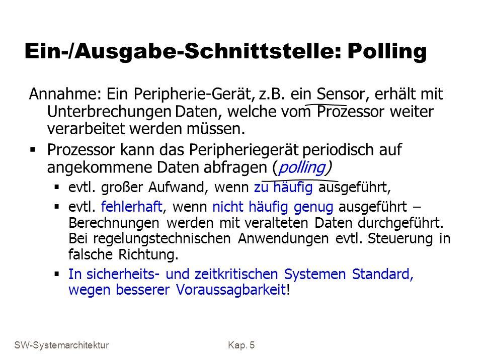 Ein-/Ausgabe-Schnittstelle: Polling