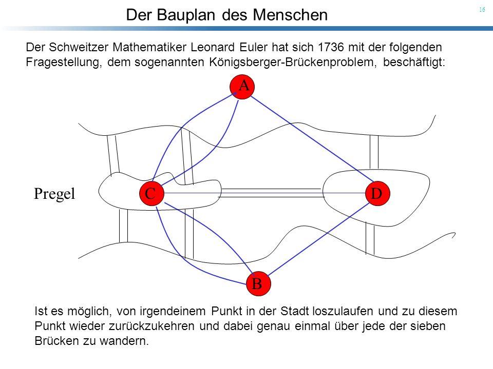Der Schweitzer Mathematiker Leonard Euler hat sich 1736 mit der folgenden