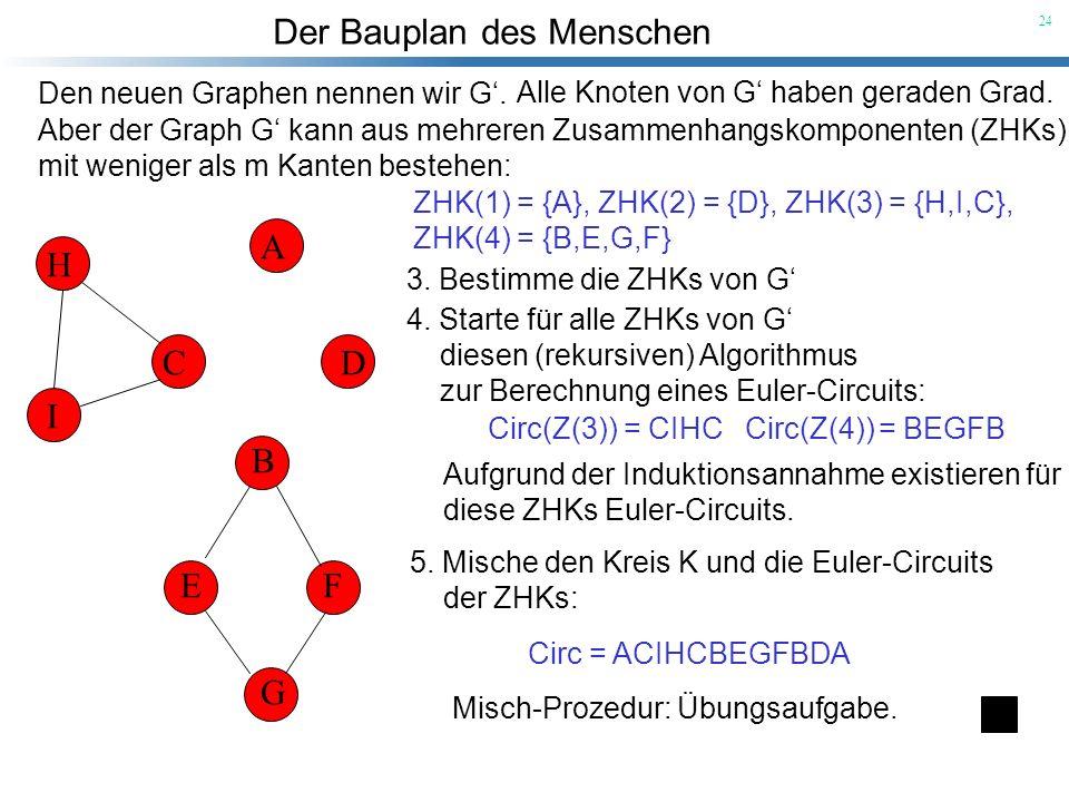 A B C D E F G H I Den neuen Graphen nennen wir G'.
