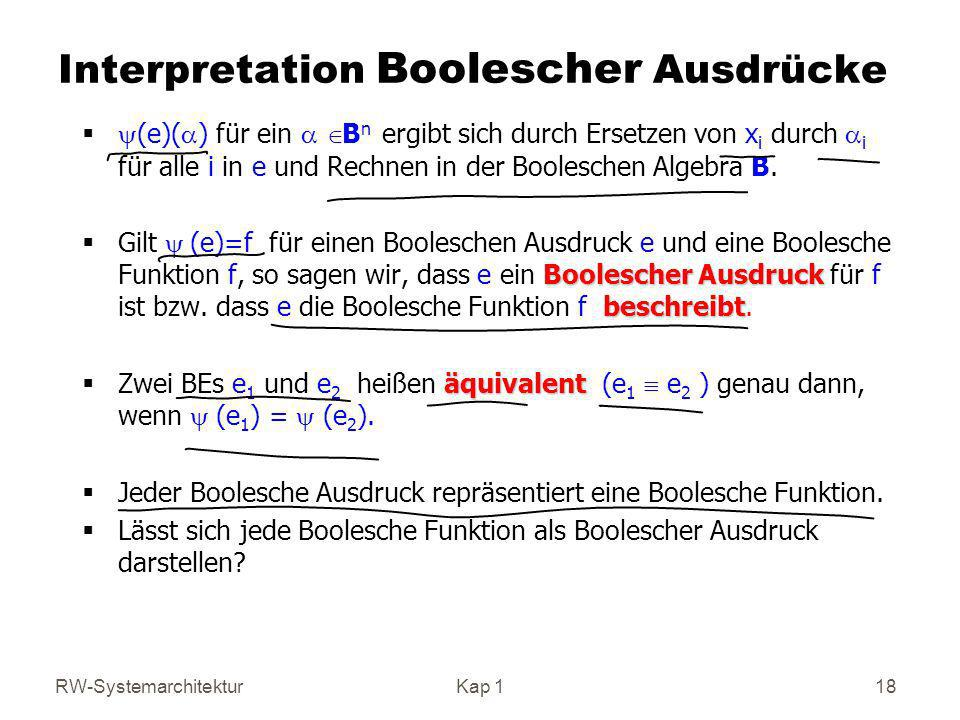 Interpretation Boolescher Ausdrücke