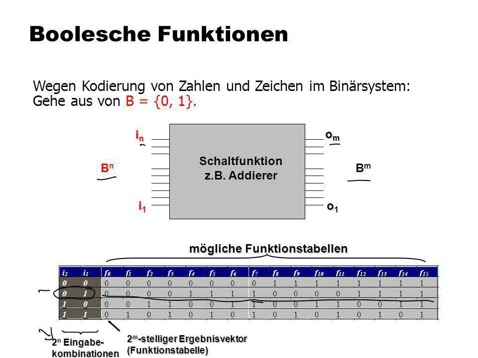 Schaltfunktion z.B. Addierer