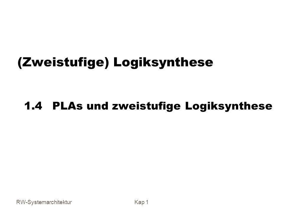 (Zweistufige) Logiksynthese