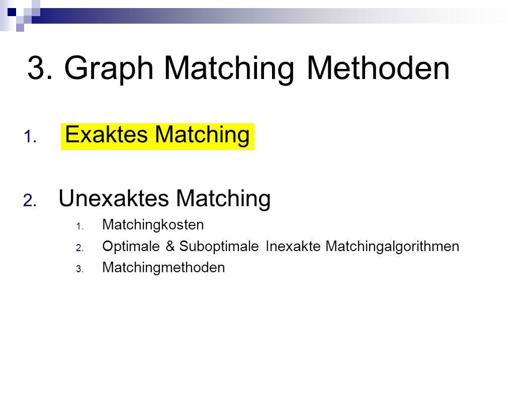 3. Graph Matching Methoden