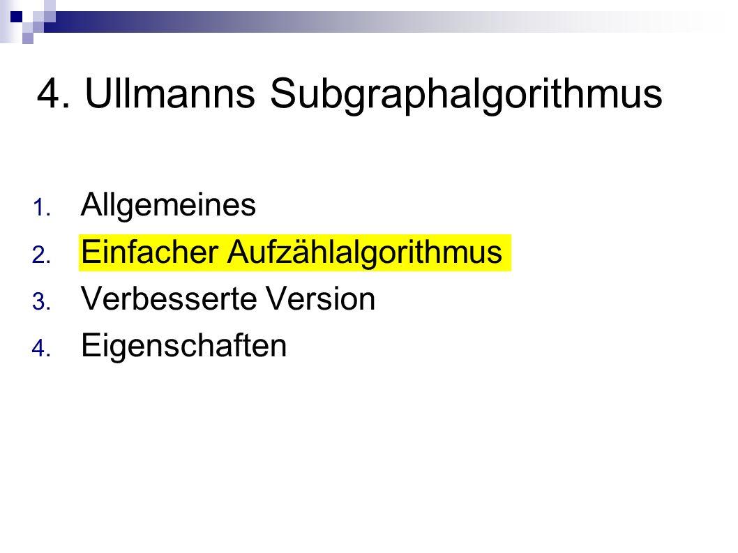 4. Ullmanns Subgraphalgorithmus