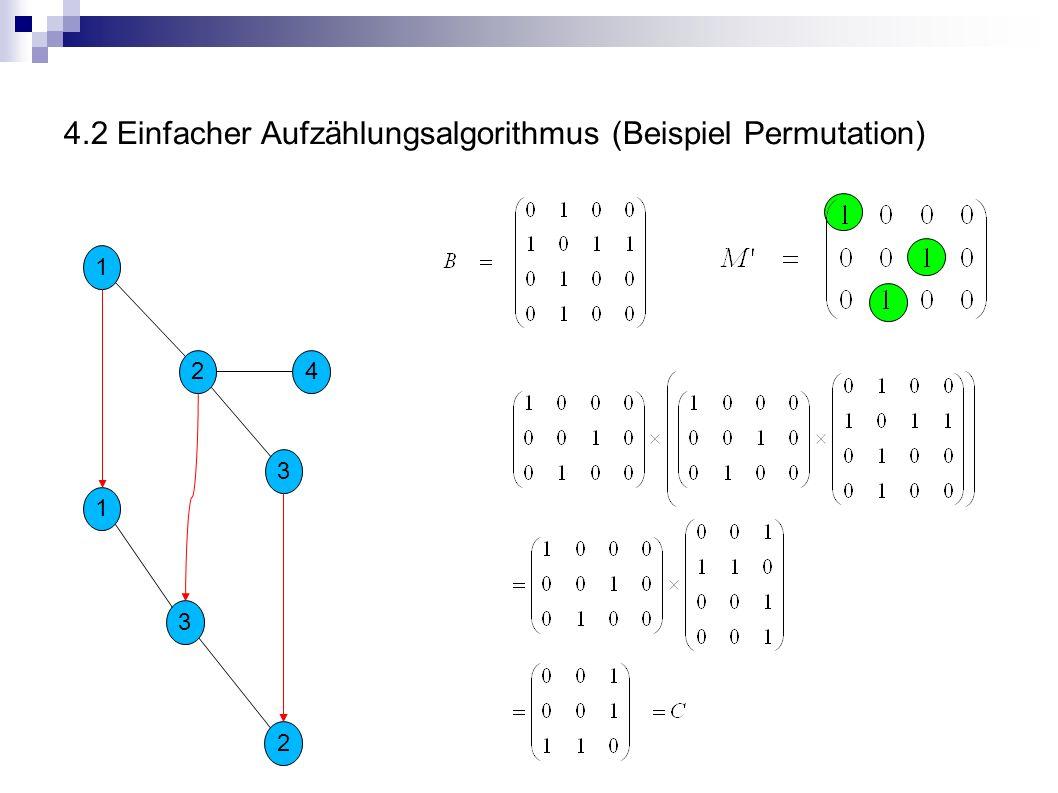 4.2 Einfacher Aufzählungsalgorithmus (Beispiel Permutation)