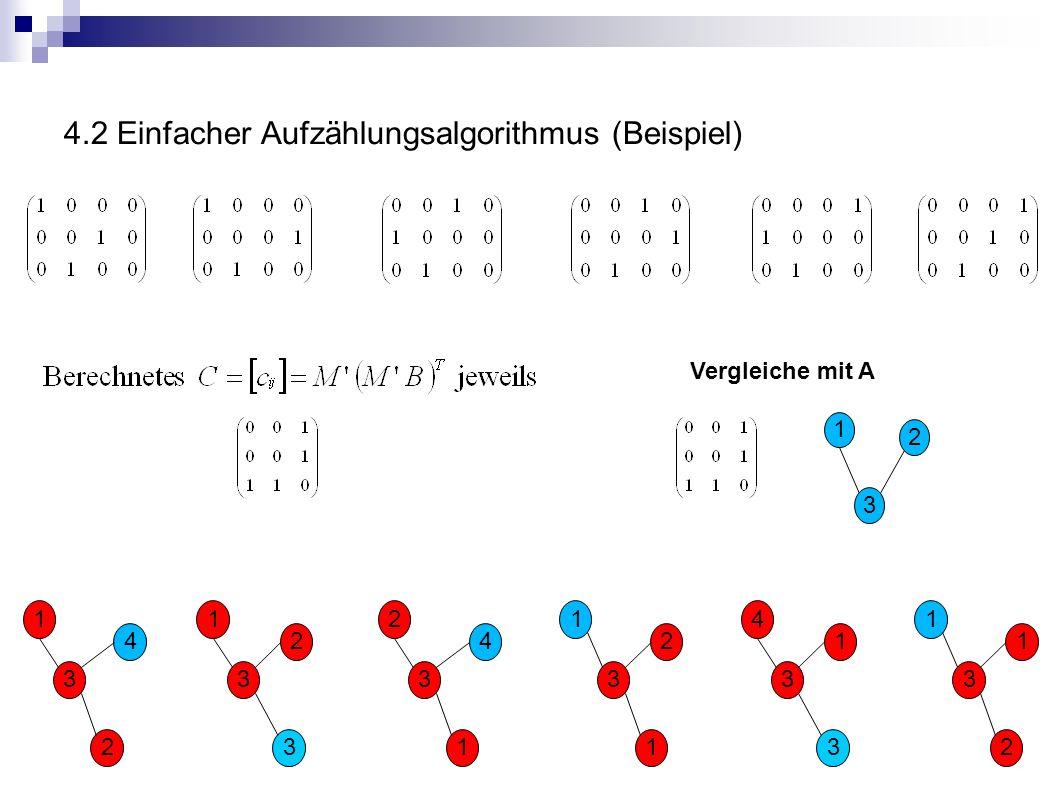 4.2 Einfacher Aufzählungsalgorithmus (Beispiel)