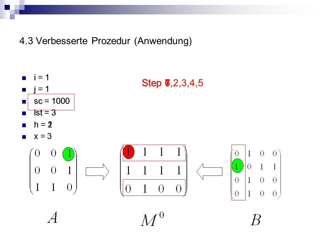 4.3 Verbesserte Prozedur (Anwendung)