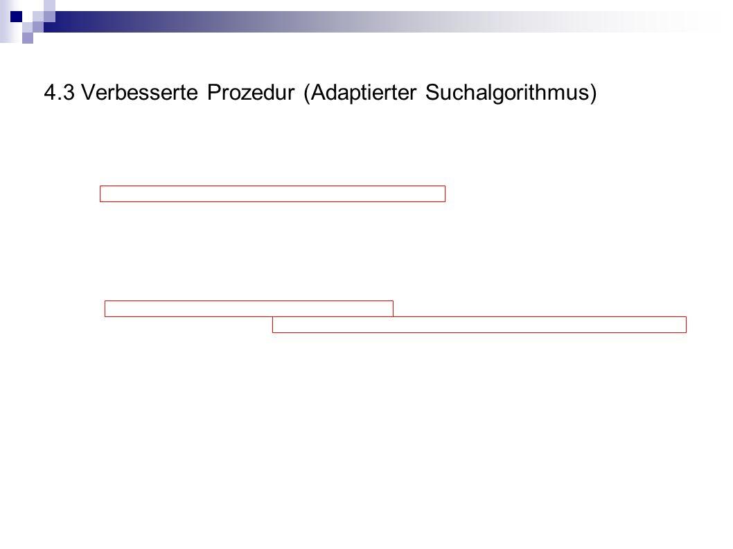 4.3 Verbesserte Prozedur (Adaptierter Suchalgorithmus)