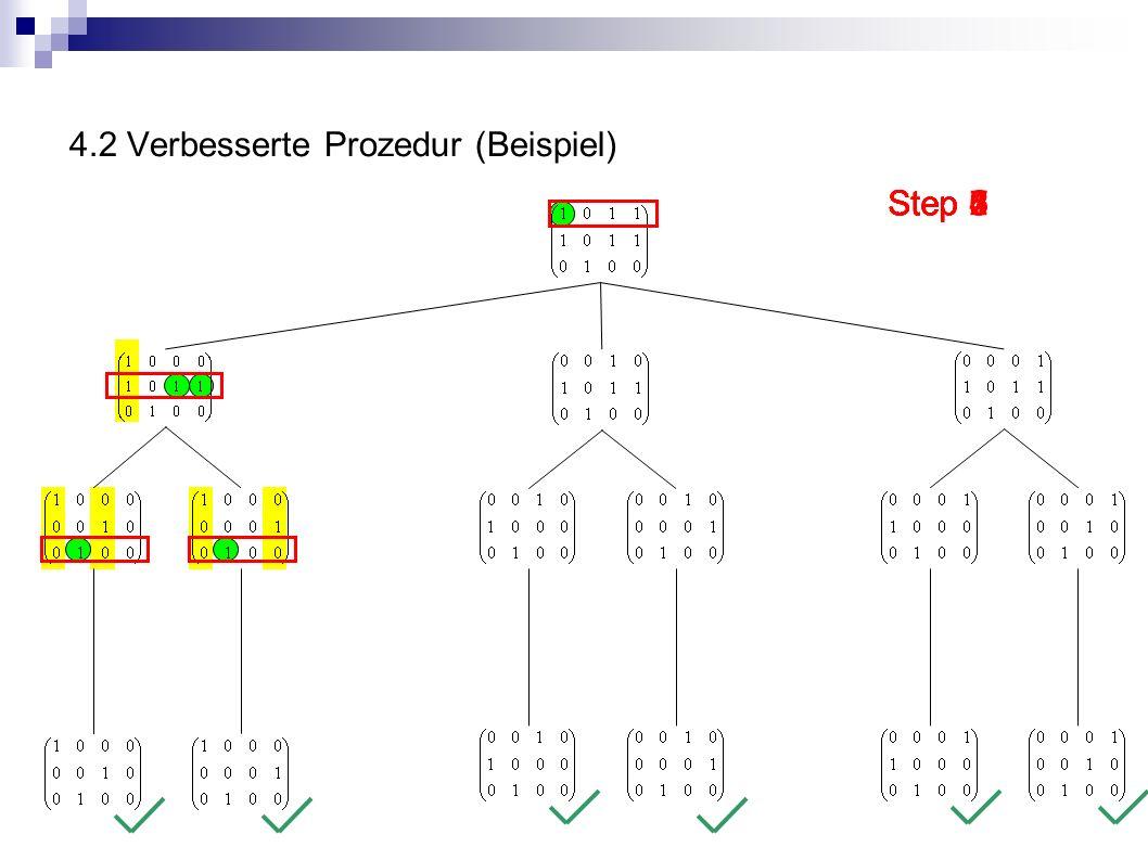 4.2 Verbesserte Prozedur (Beispiel)