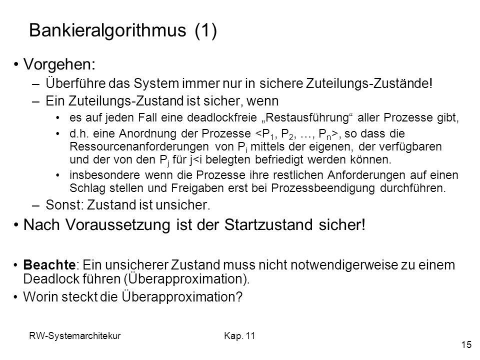 Bankieralgorithmus (1)