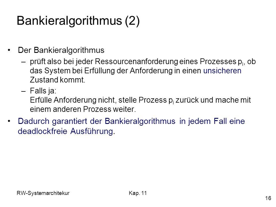 Bankieralgorithmus (2)