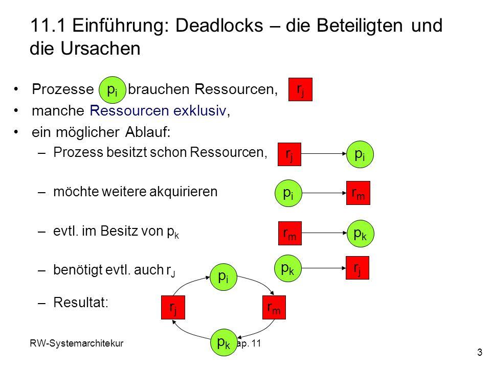 11.1 Einführung: Deadlocks – die Beteiligten und die Ursachen
