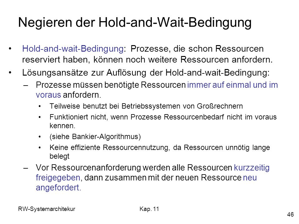 Negieren der Hold-and-Wait-Bedingung
