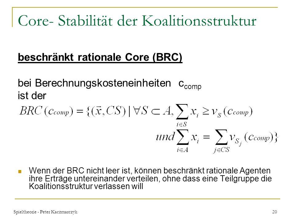 Core- Stabilität der Koalitionsstruktur