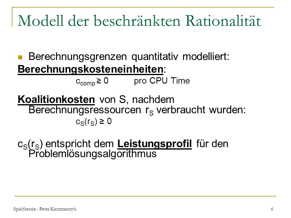 Modell der beschränkten Rationalität