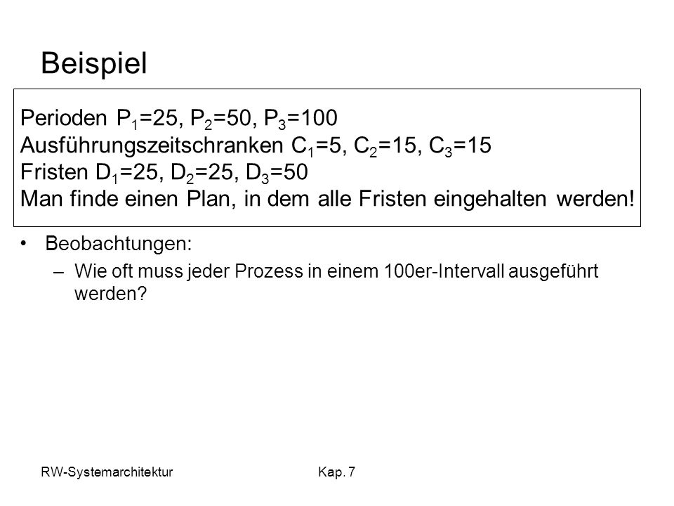 Beispiel Perioden P1=25, P2=50, P3=100